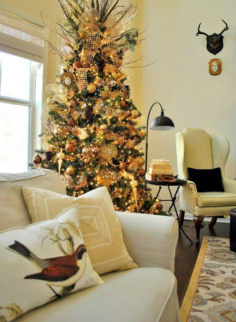 decoracion de navidad ideas para decorar arbol estilo rustico ...