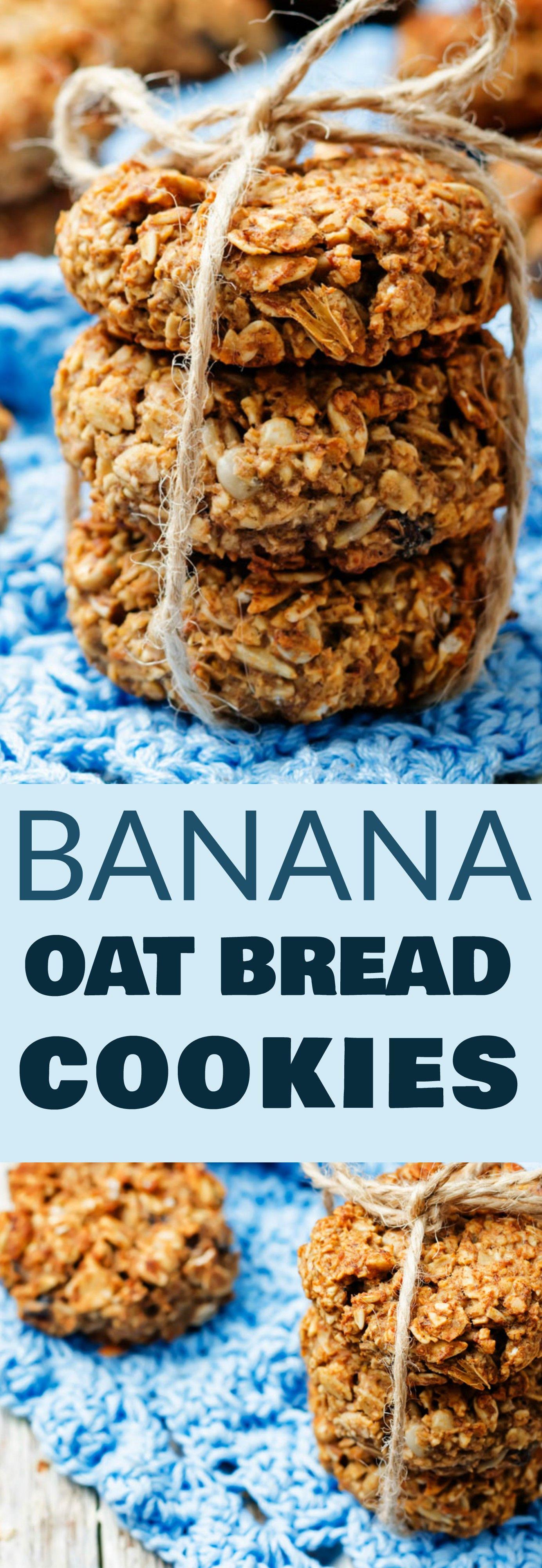 Banana Oat Cookies Recipe Banana oat bread, Banana oat
