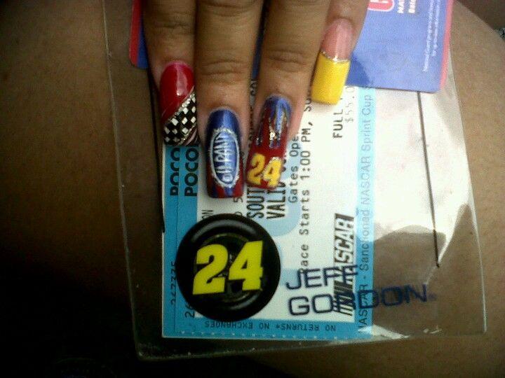 Jeff Gordon NASCAR nail art - Jeff Gordon NASCAR Nail Art Nails Pinterest Τέχνη για τα
