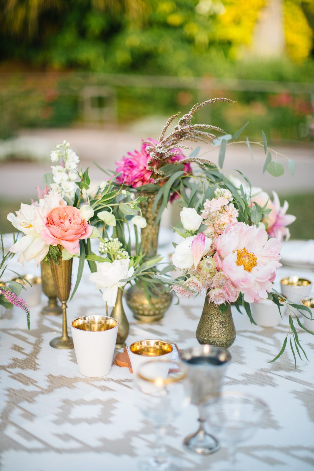 Bohemian Wedding Brass Bud Vases The Dainty Lion Floral Co