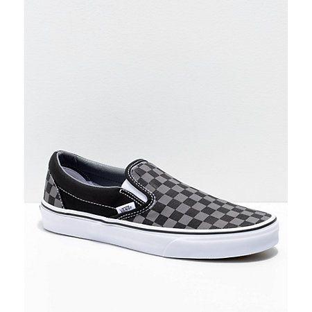f62e65bfefe Vans Slip-On Tiger Eye Tan   White Checkered Skate Shoes