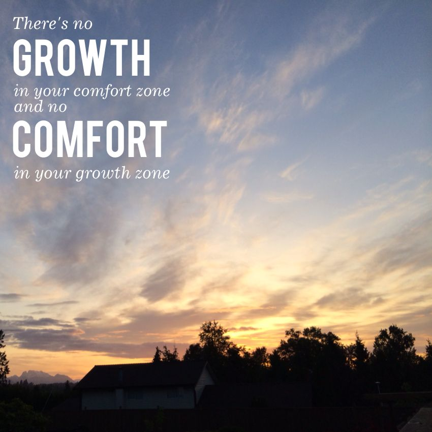 There S No Growth In Your Comfort Zone And No Comfort In Your
