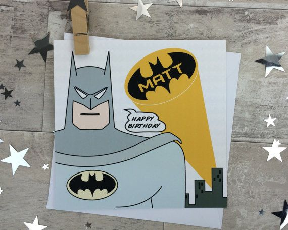 Batman birthday card personalised superhero by designedbywink batman birthday card personalised superhero by designedbywink bookmarktalkfo Choice Image