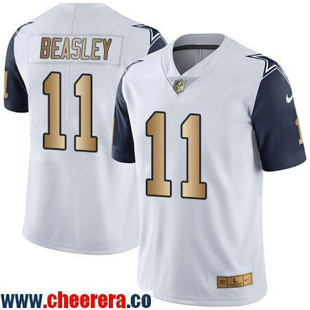 9f11351a4a6 Men's Dallas Cowboys #11 Cole Beasley White 2016 Color Rush Gold Stitched  NFL Nike Limited Jersey