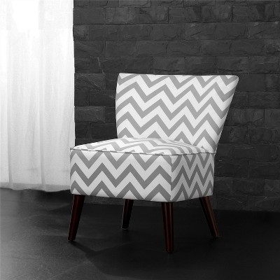 Chevron Accent Chair Gray White Dorel Living White Gray