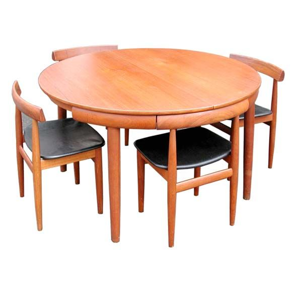 Danish Nesting Chairs And Dining Table