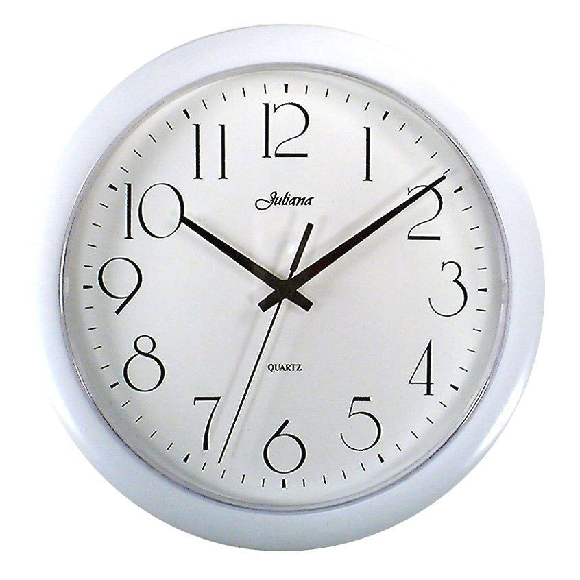 10 quartz kitchen wall clock silver or white battery on wall clocks battery operated id=86263