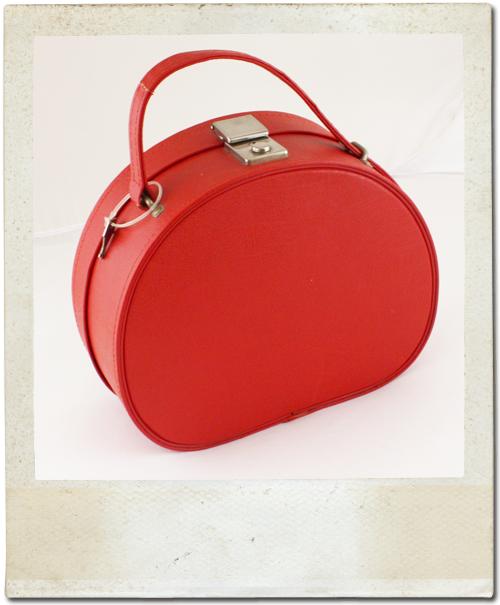 Original 1960's Red Vintage Vanity Case