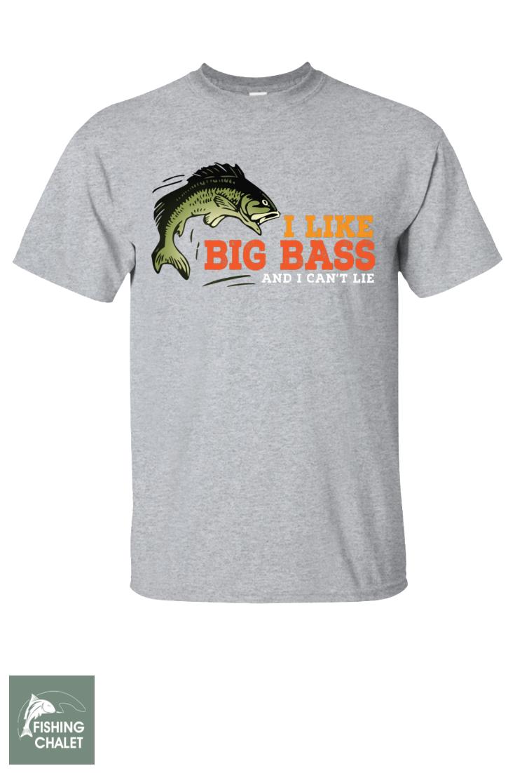 c014bec7c6f I Like Big Bass T-Shirt| Fishing Design | Bass | T-Shirt For Men | T-Shirt  for Women | Sport Grey | Fishing T-Shirts With Sayings | Fishing Chalet ...