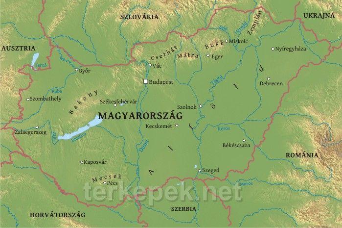 Terkepek Net Az Online Vilagatlasz Hungary Map Physical Map