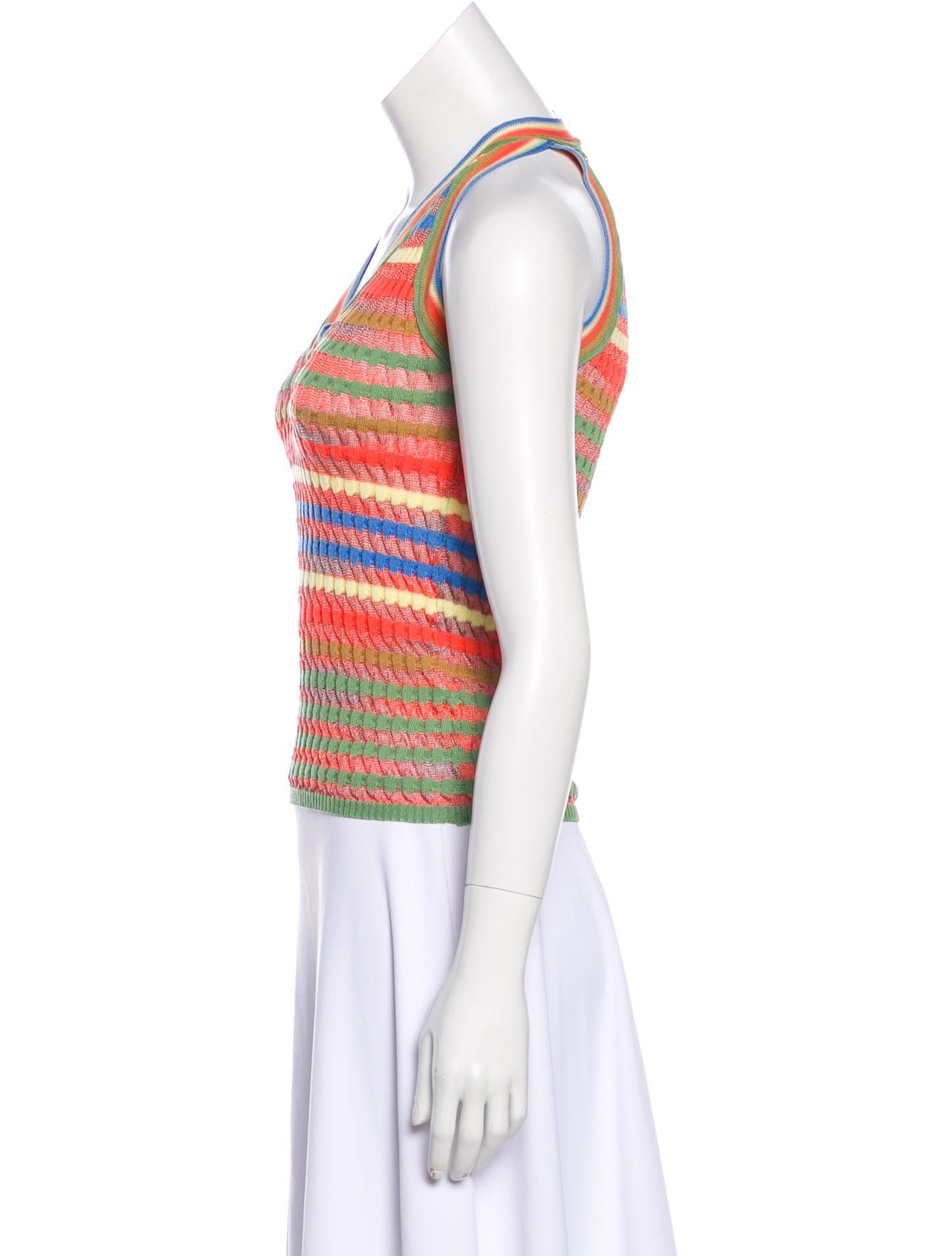 580933b3fecfe7 Multicolor M Missoni knit sleeveless top with plisse accent throughout