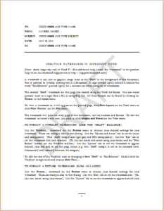 Memo With Watermark Download At HttpWwwTemplateinnComMemo