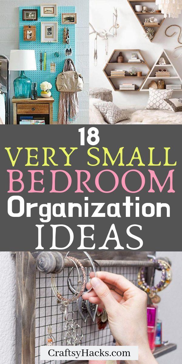 18 Möglichkeiten, ein kleines Schlafzimmer zu organisieren