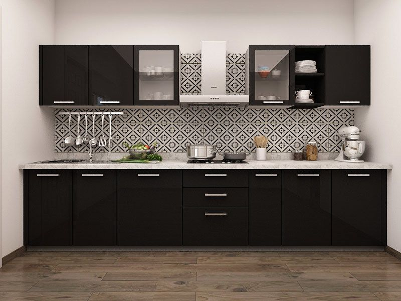 CPM0000236_pdp 1449734425_paradiso Straight Modular Kitchen (800×600) · White  KitchensNepalBlack ...