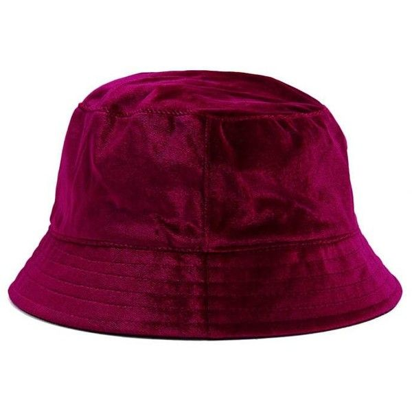 0e444fddd62 Forever21 Velvet Bucket Hat ( 10) ❤ liked on Polyvore featuring accessories