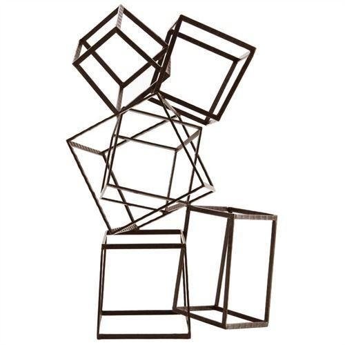 Mondrian Iron Sculpture