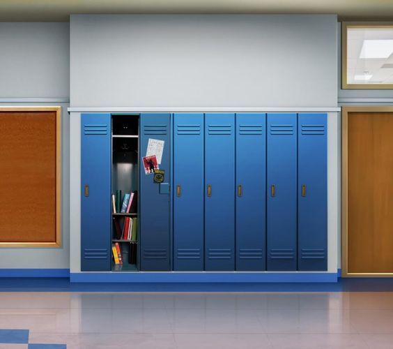 INT. Open Locker - DAY