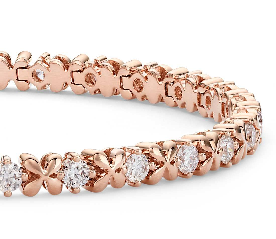 gold progressive bracelet main products diamond rose ice tw bangle tennis del in ct julie leah bangles com