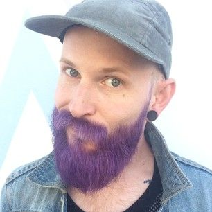 This man\'s purple beard will make you want one of your own! | Facial ...