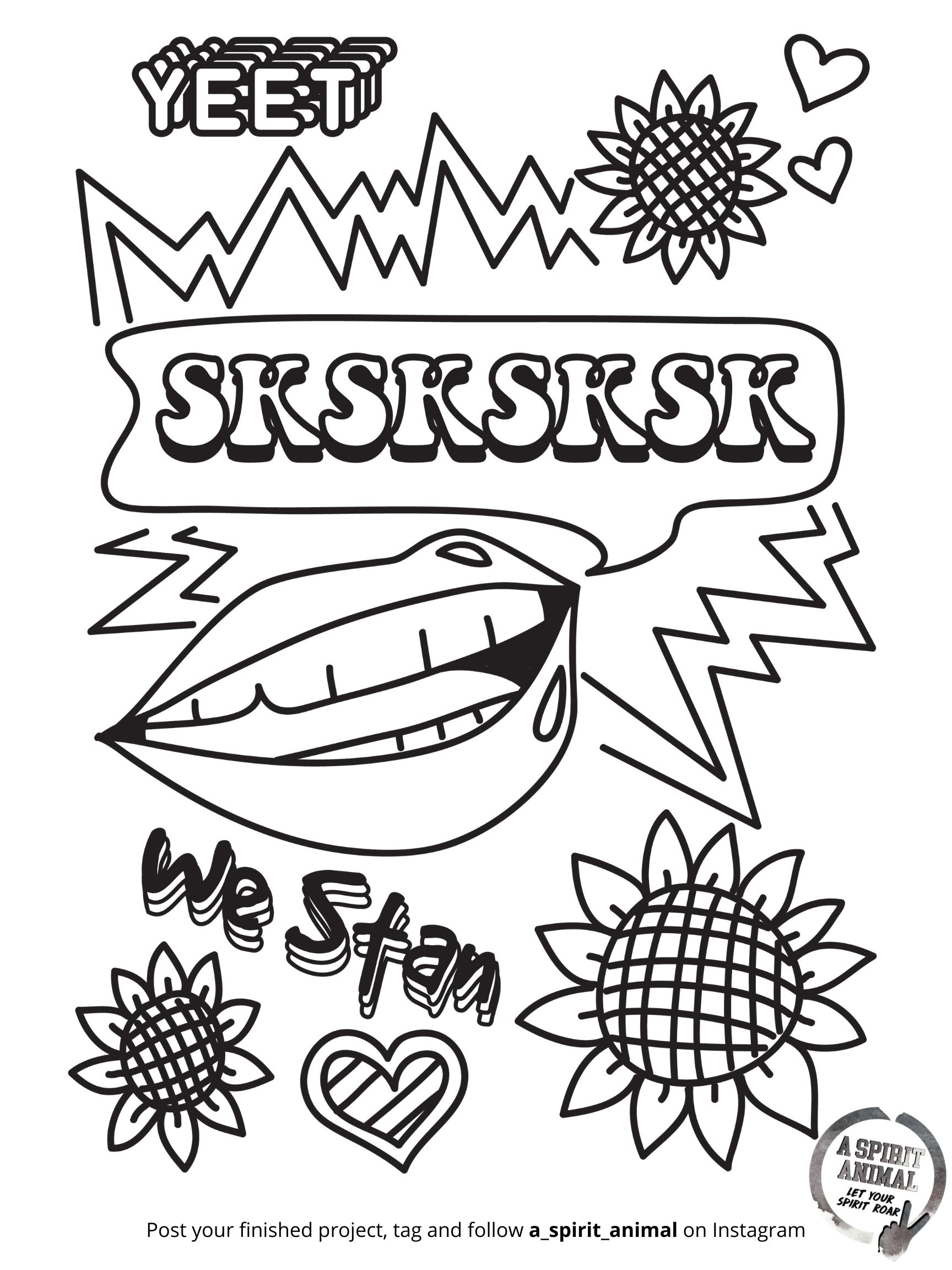 sksksksk lips yeet VSCO Girl A Spirit Animal Free Holiday Activity