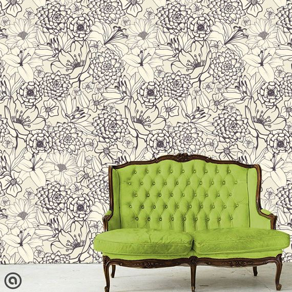 Removable Wallpaper Sketched Peel And Stick Self Adhesive Fabric Repositionable And Reusable Highest Quality Mit Bildern Tapeten Entfernen Temporare Tapete