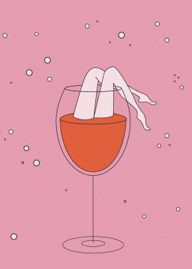 lets drink - red wine | Displate thumbnail