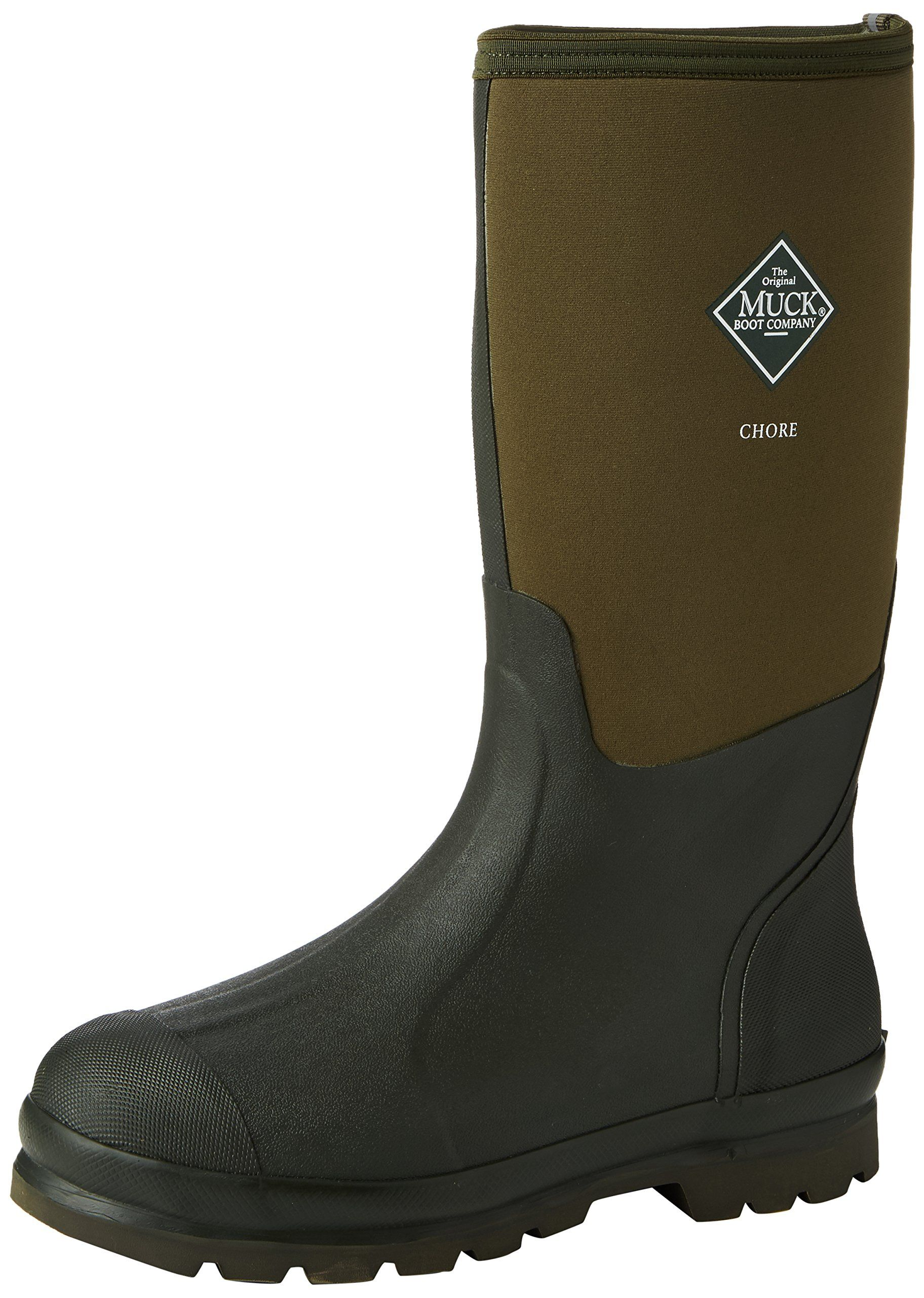 Muck Boot Chore Hi Moss Green Neoprene Wellies (10UK) | shoes ...