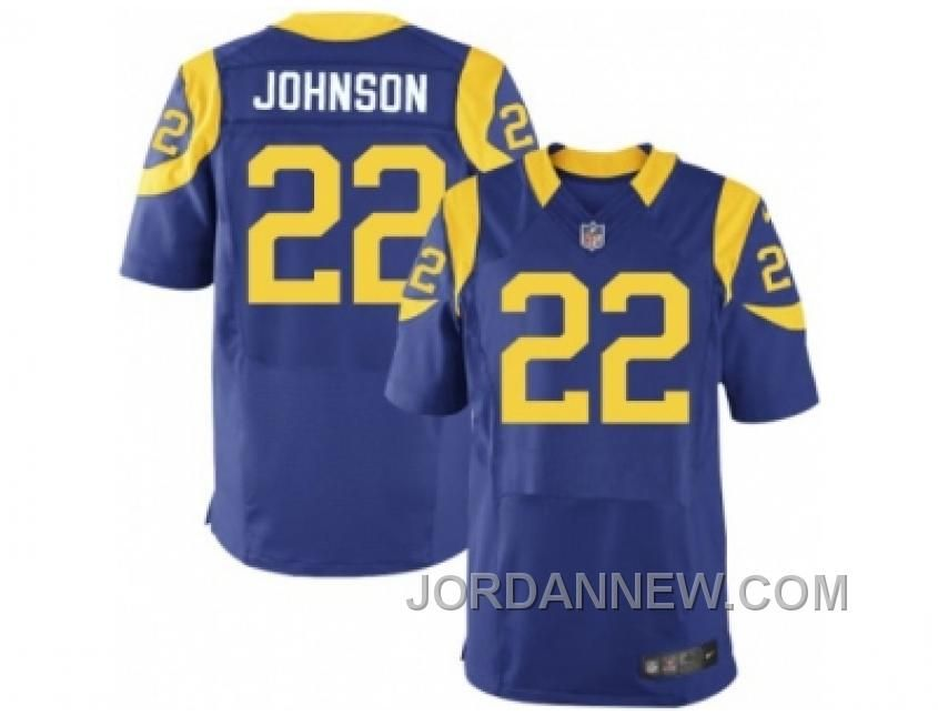 Nike Los Angeles Rams #22 Trumaine Johnson Royal Blue Alternate Men's Stitched NFL Elite Jersey