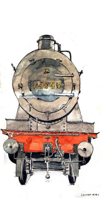 Leuven loco | Watercolor, Sketches and Illustrations