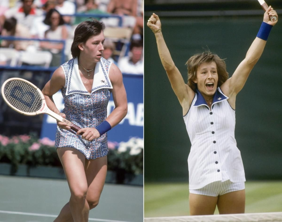 in the 1970s czech player martina navratilova favored pointed sailor collars and plenty of print
