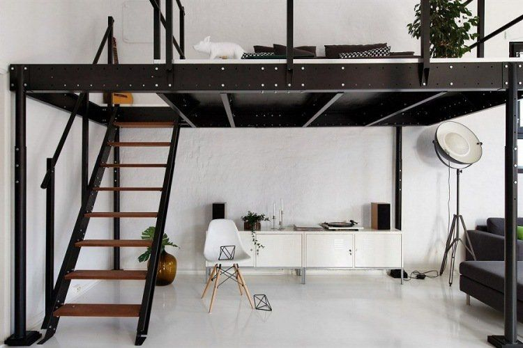 lit mezzanine deux places fonctionalit et variantes. Black Bedroom Furniture Sets. Home Design Ideas