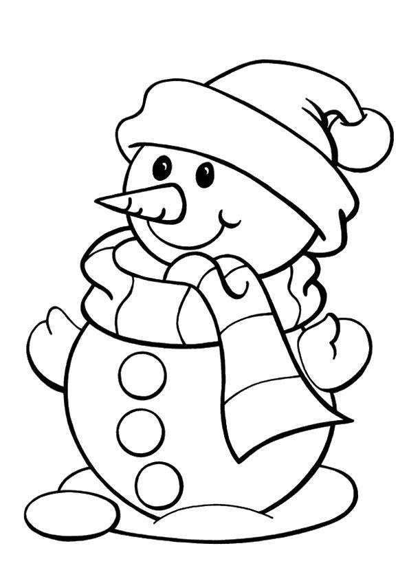 Coloriage Bonhomme De Neige Christmas Coloring Pages Snowman