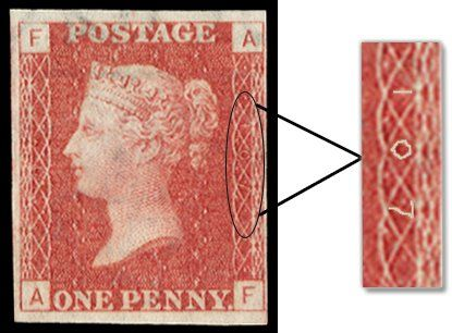 How to: identify plate numbers on Penny Red stamps | Cyprus