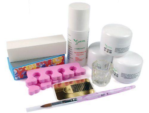 1 set profession full nail art acrylic UV Gel | Uv gel, Nail