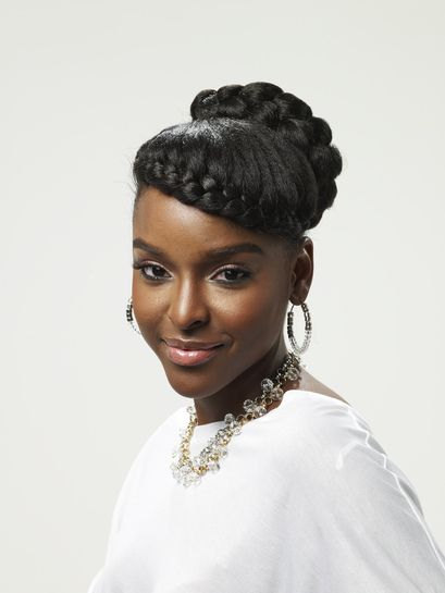 Braid Across The Forehead And Updo Hair Styles Pinterest