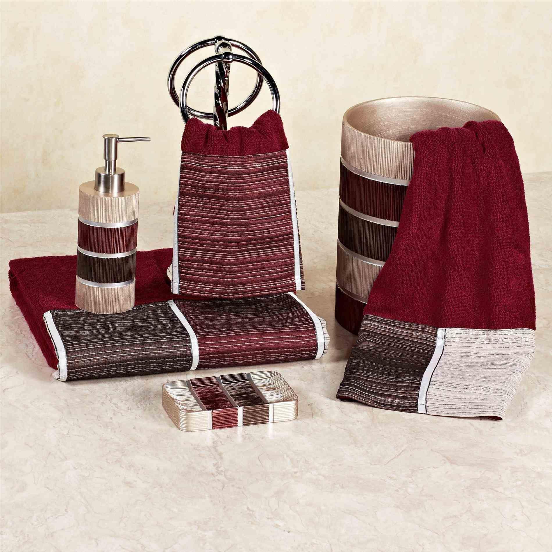 Burgundy Bathroom Accessories