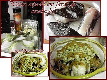 Receitas - Peixe espada e favas em escabeche de caril - Petiscos.com