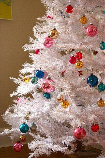 Retro Holiday 10 Beautiful White Christmas Trees Mid-century