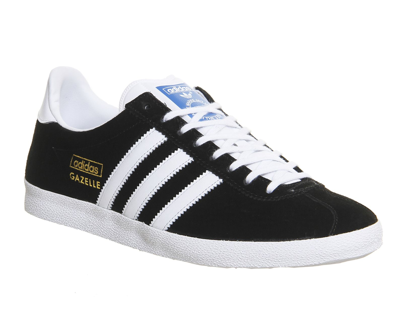 Adidas Gazelle Og Black White Metallic Gold  Unisex Sports  Gold TrainersSports  TrainersShoes