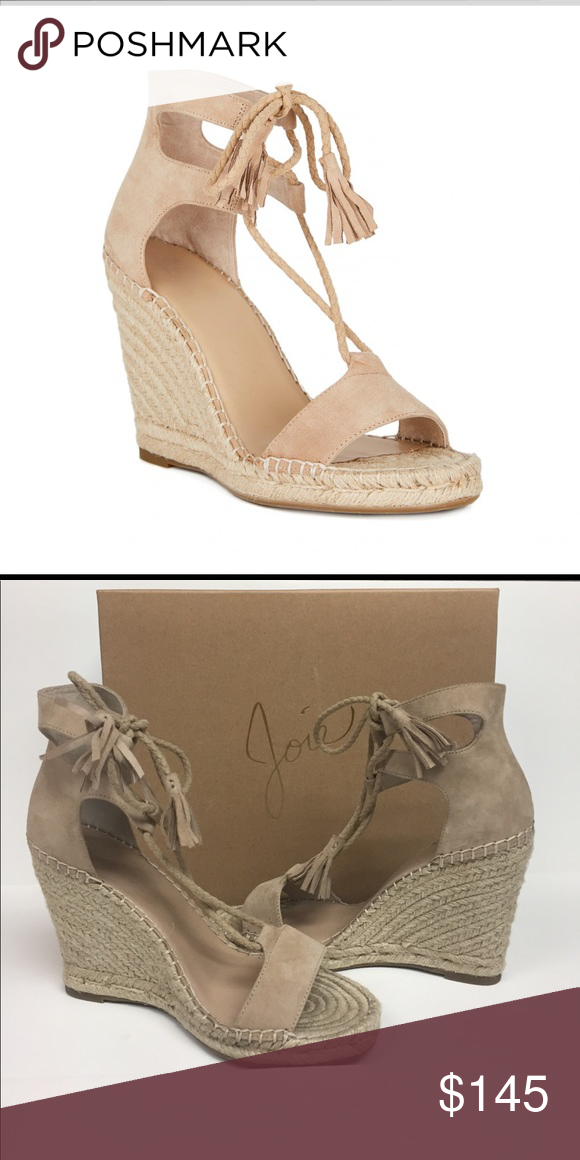 2eff6d489ab Joie Delilah Suede Espadrille Wedge Sandal NIB Love these Delilah wedge  sandals by Joie. Slender plaited straps that wrap around the ankle and  ended and ...