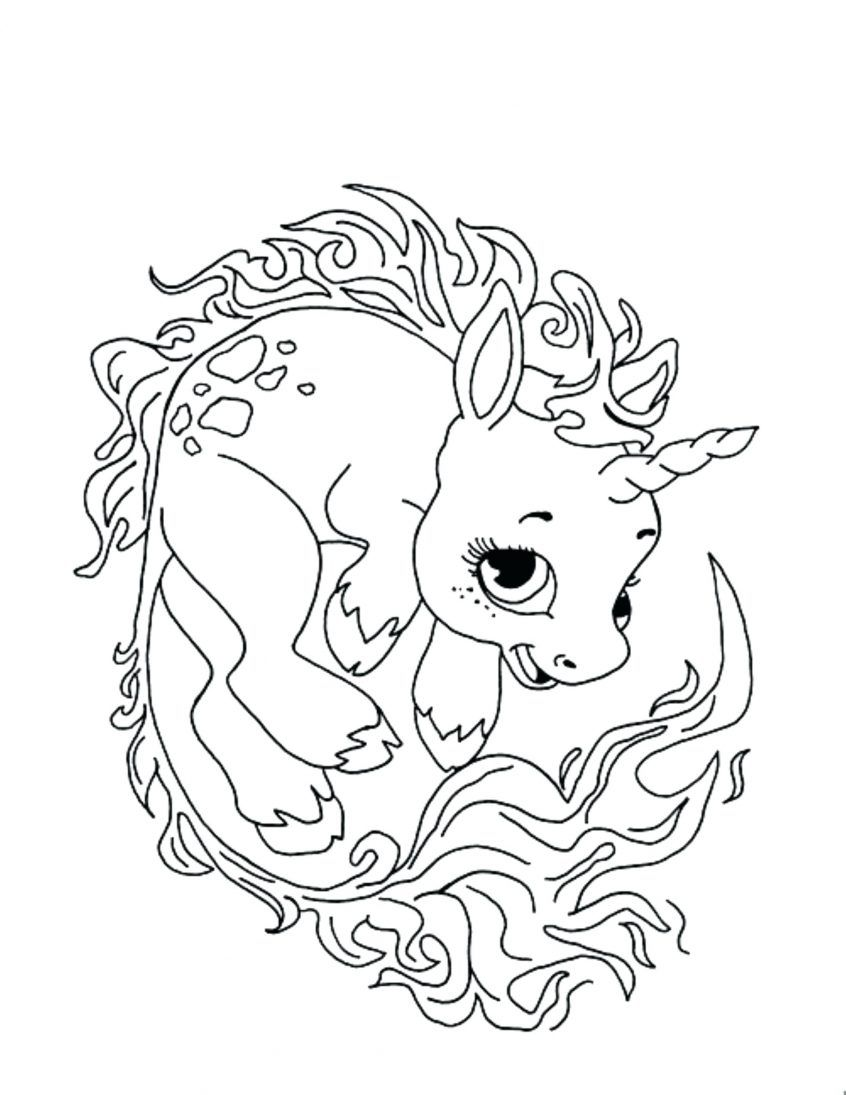 Unicorn Wallpaper Coloring Pages Display