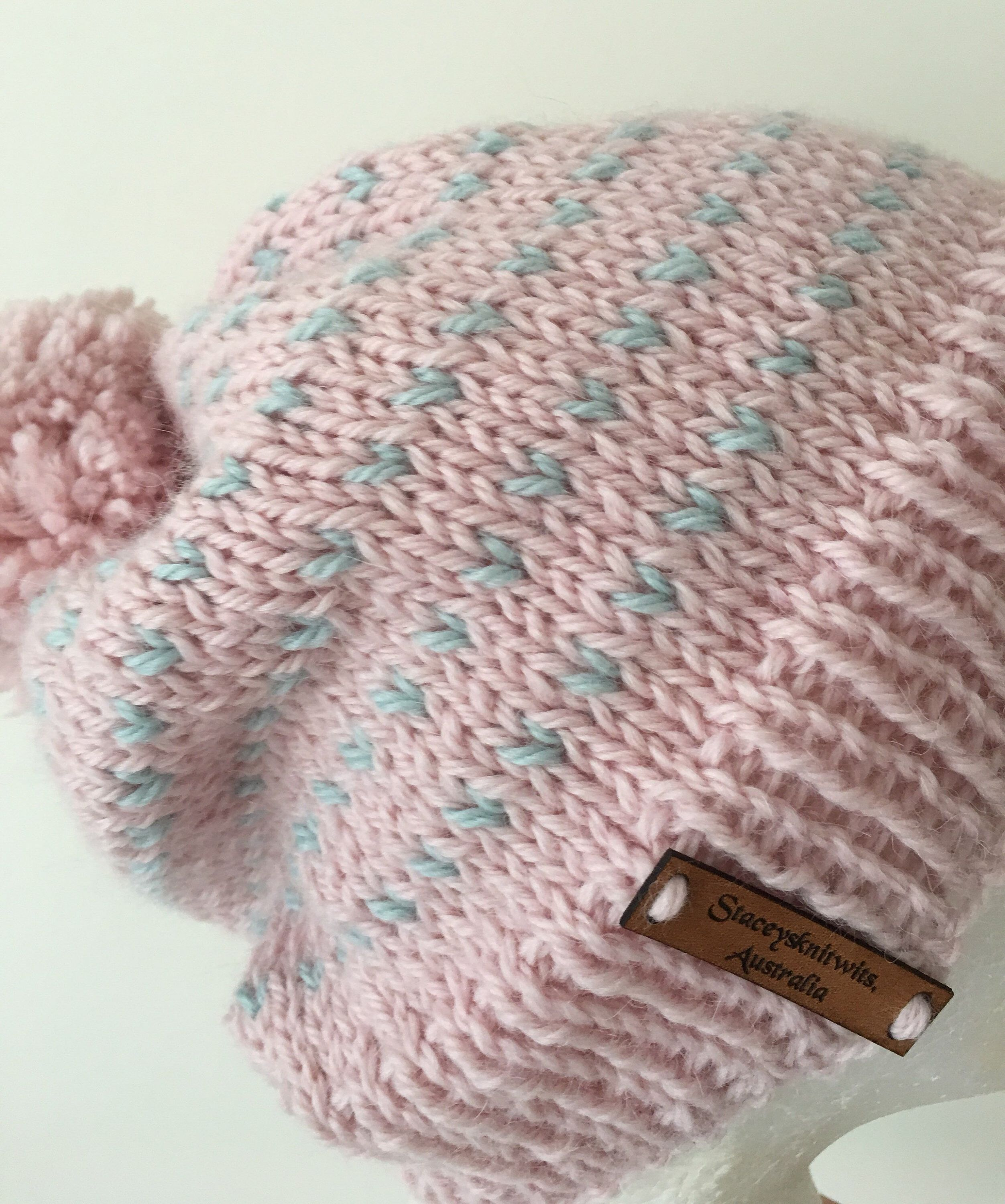 9faff106b4e Items similar to Knitted pink slouchy beanie