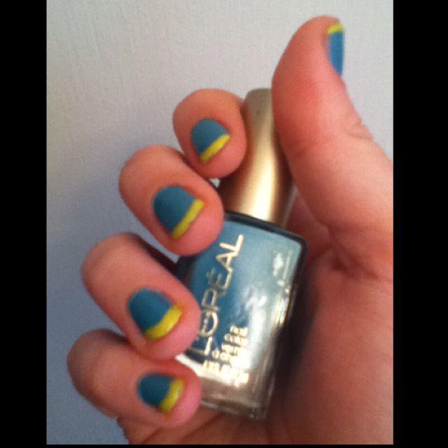 Multi color French manicure