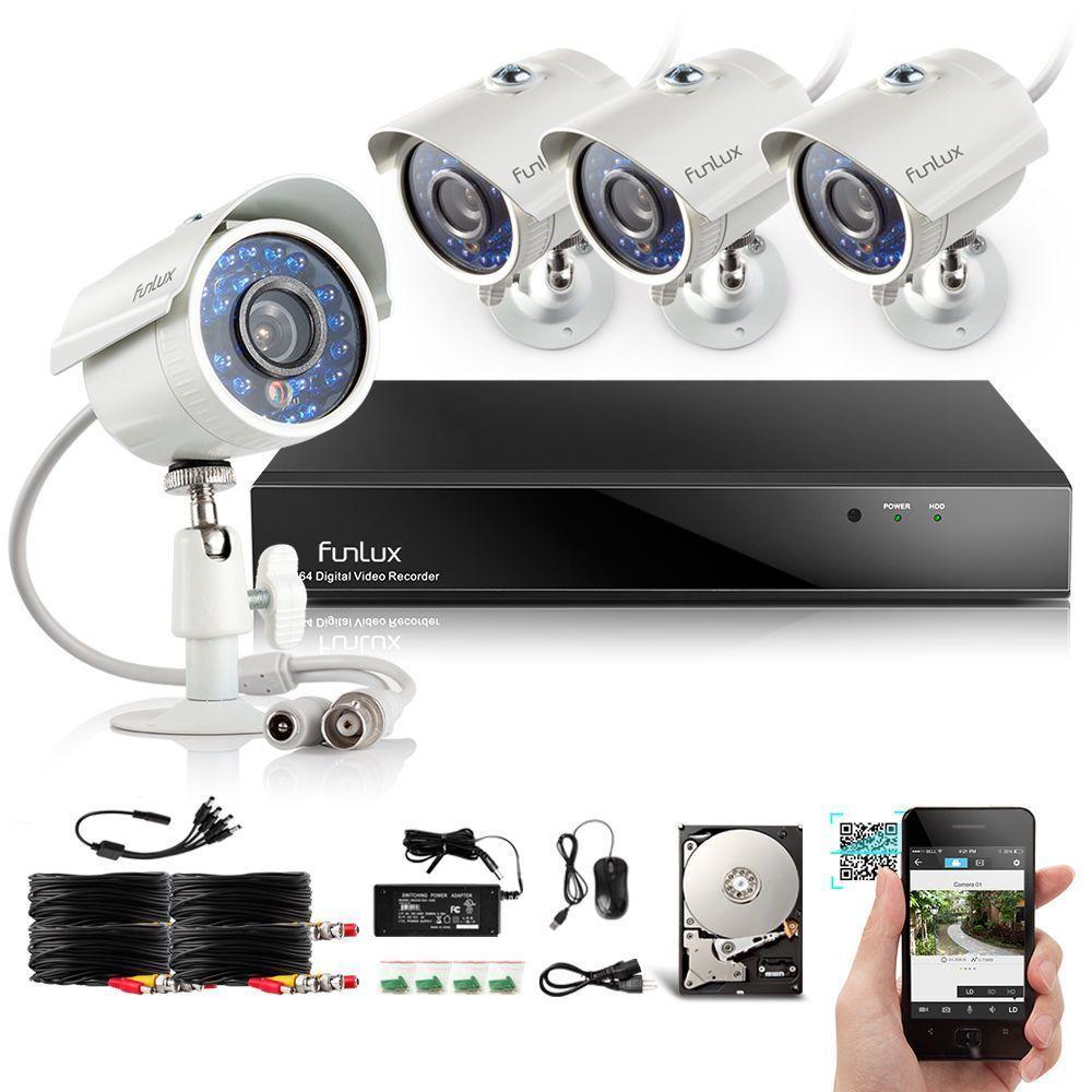 Funlux 8CH HDMI DVR Outdoor IR Home Surveillance Security Camera ...