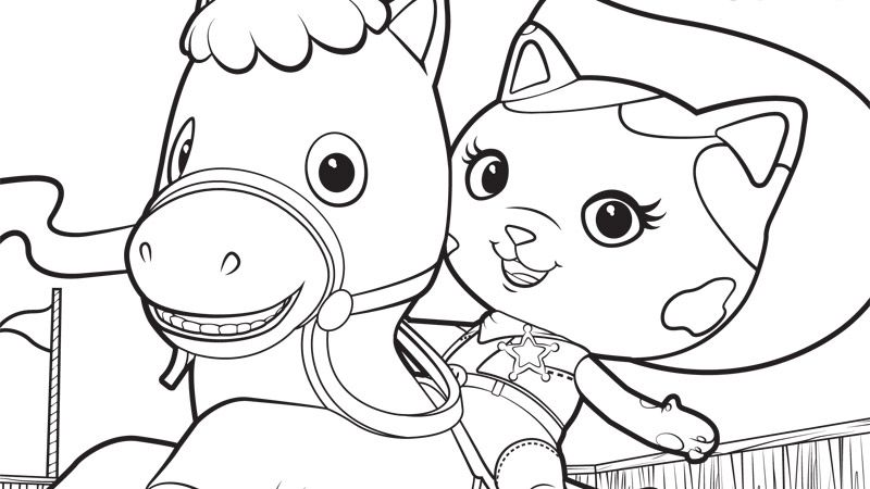 sheriff callie and sparky printables disney junior - Disney Jr Coloring Pages
