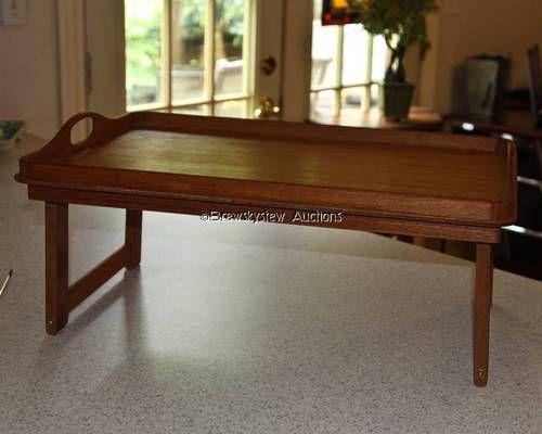 Vintage Goodwood Teak Wood Serving Tray Bed TV Dinner Laptop Desk MID CENTURY $45
