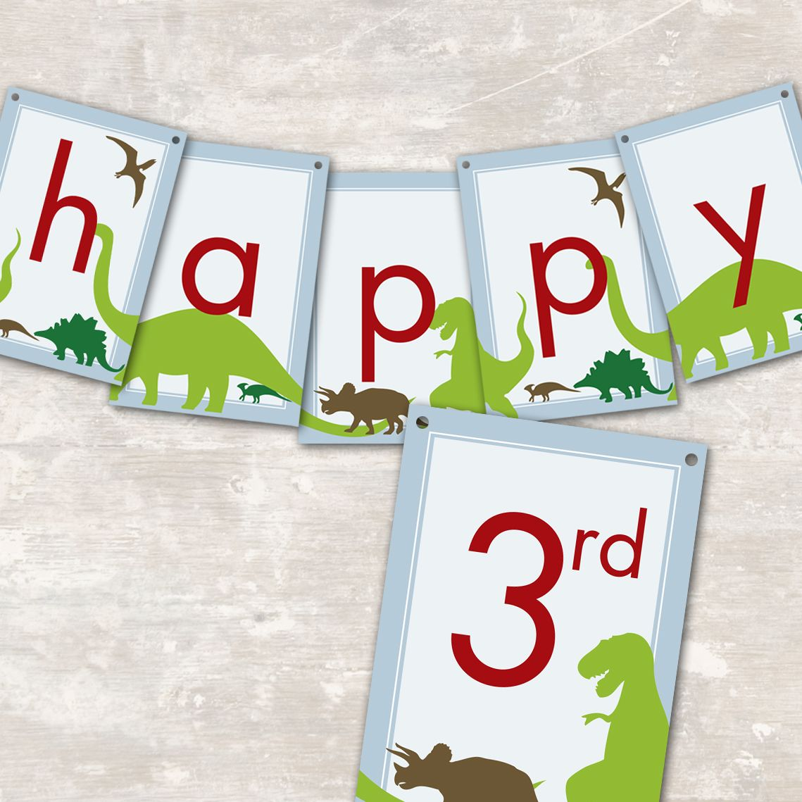 Dinosaur Dig Printable Birthday Party Paper And Cake Birthday Party Pennants Dino Birthday Party Birthday Party Paper