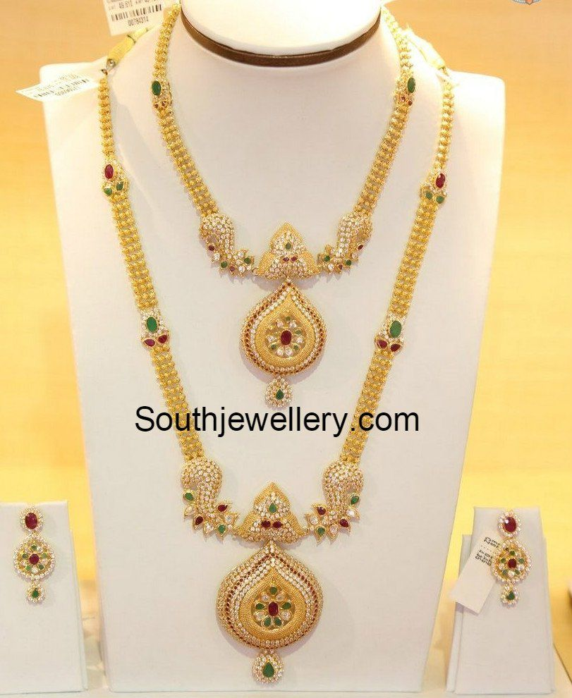 Beautiful 22 carat gold chains with matching pendant designs latest - Gold
