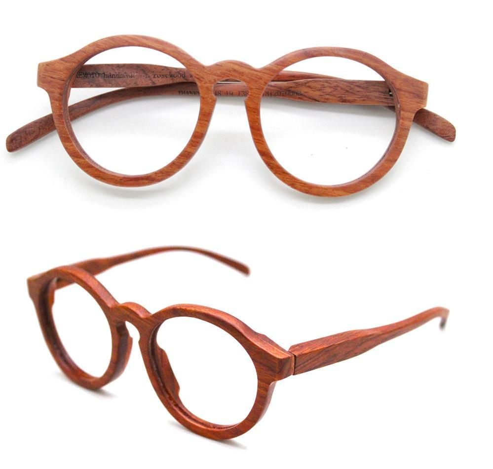 89dc1368b46 Sale - 10% Off Defective Thanks Handmade Round Takemoto Rosewood Glasses