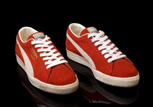 OG Puma Clyde Made In Yugoslavia in Red Colourway Photographed by Errol  Thomas  eatmoreshoes. 265a51ec6